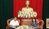 Dang Thi Ngoc Thinh s'entretient avec le Comité de pilotage du Sud-Ouest
