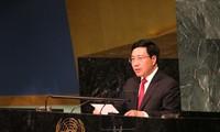 Activités de Pham Binh Minh en marge de la 72ème Assemblée générale de l'ONU