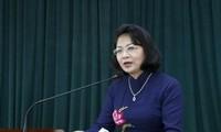 La vice-présidente Dang Thi Ngoc Thinh en Finlande
