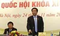 Conférence de presse annonçant les résultats de la 4ème session parlementaire