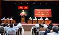 Le président Trân Dai Quang rencontre des électeurs de Ho Chi Minh-Ville