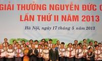 Lễ trao tặng Giải thưởng Nguyễn Đức Cảnh lần thứ 2 năm 2013