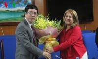 Tổng Giám đốc Đài TNVN Nguyễn Đăng Tiến tiếp đoàn Hội nhà báo Cuba