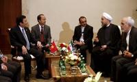 Chủ tịch nước Trương Tấn Sang hội kiến các nhà lãnh đạo dự hội nghị cấp cao Á - Phi