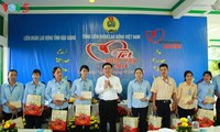 Workers, poor households get Tet gifts