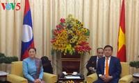 Динь Ла Тханг принял председателя парламента Лаоса Пани Ятхоту