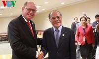 Nguyen Sinh Hung a eu plusieurs rencontres importantes aux Etats-Unis