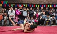 Tournoi de lutte au village de Mai Dong