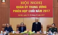 អគ្គលេខាបក្សលោក Nguyen Phu Trong អញ្ជើញជាអធិបតីសន្និសីទគណៈកម្មាធិការយោធាមជ្ឈឹម