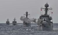 AS, Jepang dan Republik Korea melakukan latihan perang di laut