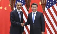 中国国家主席习近平在二十国集团领导人杭州峰会前夕与美国总统奥巴马会谈