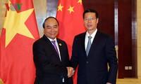 阮春福会见中国国务院副总理张高丽和广西壮族自治区党委书记彭清华