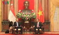 越南国家主席陈大光会见新加坡副总理张志贤