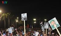 菲德尔·卡斯特罗领袖吊唁仪式上令人感动的场景