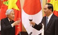 日本天皇与皇后设茶宴庆祝访越行程取得圆满成功