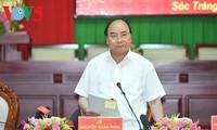 阮春福:朔庄省要集中扩大种植高产水稻和优势水果