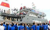 """2017年""""为了家乡海洋岛屿青年之旅""""出征仪式在胡志明市举行"""