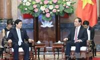 陈大光会见中国商务部部长钟山