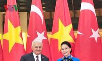 阮氏金银会见土耳其总理耶尔德勒姆