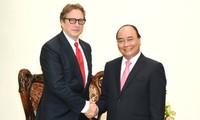 阮春福会见美国先驱资本伙伴基金董事长法尔科内