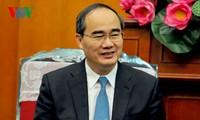 越南祖国阵线中央委员会主席阮善仁对韩国进行友好访问