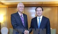 陈大光圆满结束对新加坡的国事访问