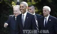 美国总统奥巴马重申与北约和欧盟关系的重要地位