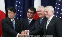 日美加强同盟关系 应对朝鲜威胁