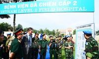 越南一号二级野战医院设备安装与训练活动结束