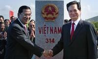 Einweihung des letzten Grenzsteins zwischen Vietnam und Kambodscha