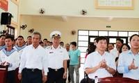 Erforschung der Gedenkstätte der gefallenen Soldaten auf der Insel Gac Ma