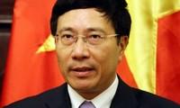 Vize-Premierminister Pham Binh Minh empfängt die neue norwegische Botschafterin in Vietnam
