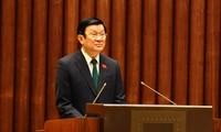 Staatspräsident legt Parlament Erklärung zur Ratifizierung der Konvention über Menschenrechte vor