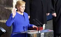 Kroatiens Präsidentin vereidigt