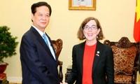 Premierminister Nguyen Tan Dung ist optimistisch über eine bessere Beziehung mit den USA