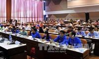 Delegation der vietnamesischen Jugendlichen nimmt an der WBDJ- Konferenz teil