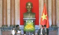 Staatspräsident Tran Dai Quang trifft Vize-Präsidentin der Weltbank Victoria Kwakwa