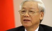 KPV-Generalsekretär Nguyen Phu Trong trifft Laos Verteidigungsminister