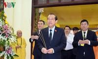Vizepremierminister Truong Hoa Binh besucht Trauerfeier für den Mönch Thich Chon Thien
