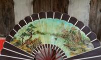 Herstellung von Fächern im Dorf Chang Son