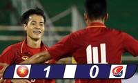 Vietnamesische U22-Fussballmannschaft schlug 1:0 gegen Mannschaft der Fussballstar der K League