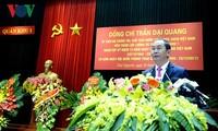 Staatspräsident Tran Dai Quang besucht Streitkräfte der Militärzone Nr. 1