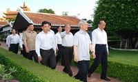 Tổng bí thư Nguyễn Phú Trọng thăm và làm việc tại Bình Thuận