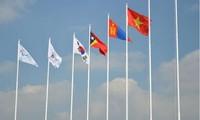 Lễ thượng cờ Đoàn Thể thao Người khuyết tật Việt Nam tại Asian Para Games II