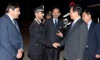 Thủ tướng Nguyễn Tấn Dũng tới Milan (Italy) tham dự Hội nghị Cấp cao Á-Âu lần thứ 10