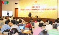 Công bố chương trình kỳ họp thứ 9, Quốc hội khóa XIII