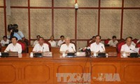 Bộ Chính trị làm việc với Thường vụ Đảng ủy Công an Trung ương