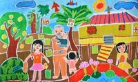 """Cuộc thi vẽ """"Bác Hồ của chúng em"""": Đẹp mãi trong tâm hồn trẻ thơ"""