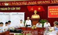 Phó Chủ tịch Quốc hội Uông Chu Lưu, kiểm tra, giám sát công tác bầu cử tại Cần Thơ