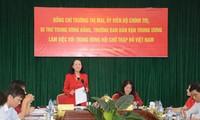 Trưởng ban Dân vận Trung ương làm việc với Hội Liên hiệp Phụ nữ và Trung ương Hội Chữ Thập đỏ VN